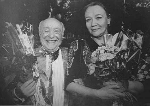 Ролан Быков с женой Е. Санаевой