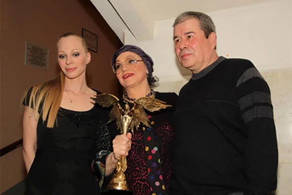 Нина Русланова с дочерью Олесей и Равкатом Габитовым