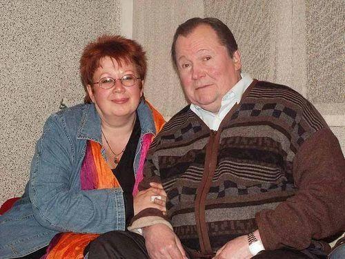 Виктор Павлов с женой Татьяной в старости