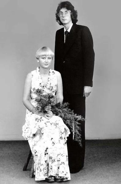 Анна Вески с первым мужем Яаком Вески