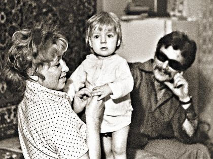 Анна Фроловцева с мужем и сыном