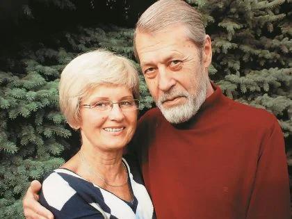 Георгий Мартынюк со второй женой Ниеле