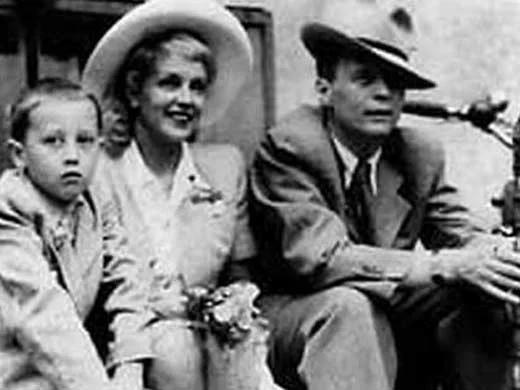 Марина Ладынина с мужем Иваном Пырьевым и сыном Андреем