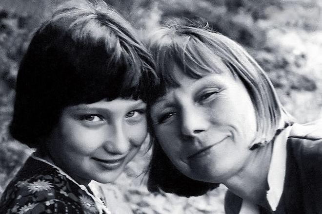 Елизавета Никищихина с дочерью Катей