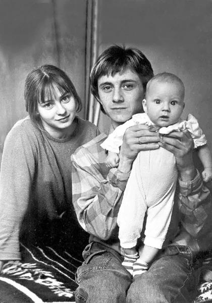 Вячеслав Баранов с женой и сыном