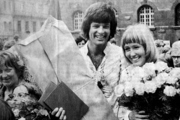Дин Рид со второй женой – Вибке