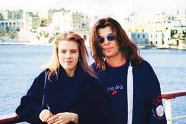 Женя Белоусов с Еленой Савиной