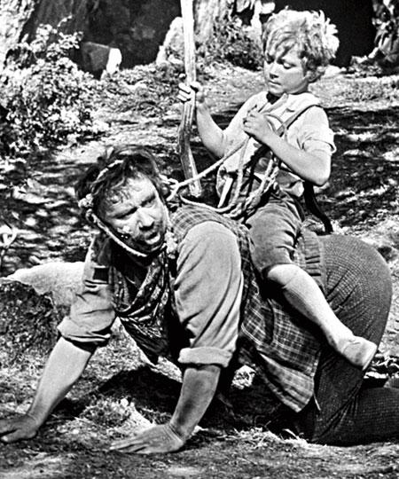 """Алексей Смирнов и Сережа Тихонов. """"Вождь краснокожих"""" 1962 г."""