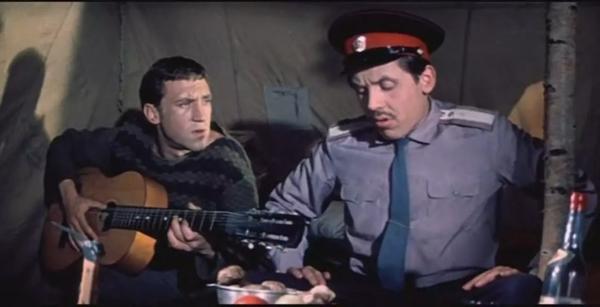 "Владимир Высоцкий и Валерий Золотухин. ""Хозяин тайги"" 1968 г."