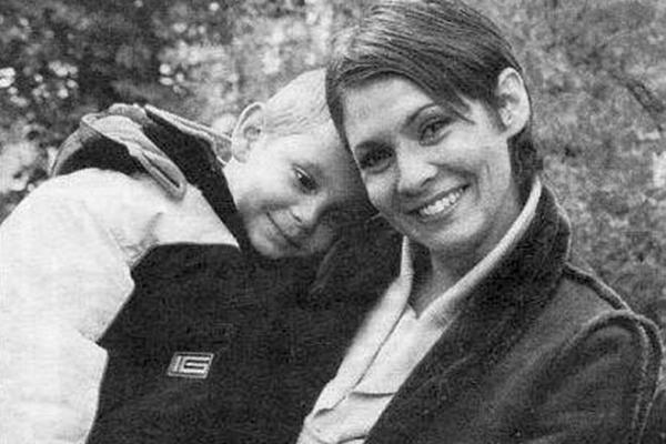 Инга Ильм с сыном