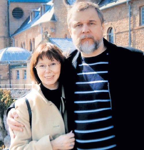 Евгения Симонова с третьим мужем Андреем Эшпаем