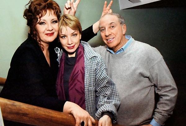 Наталья, Даша и Сергей Юрские