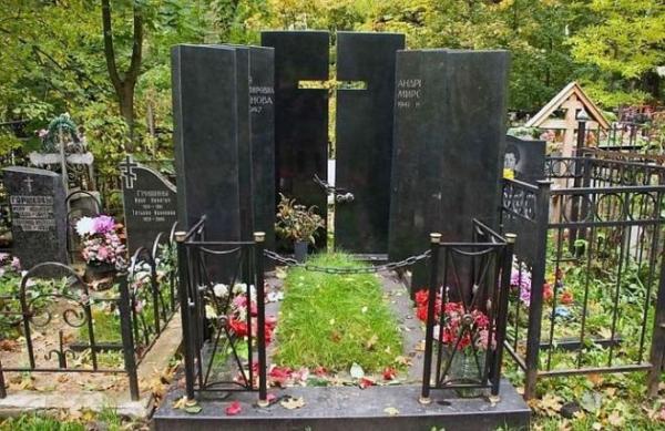 Могила Андрея Миронова и Марии Мироновой