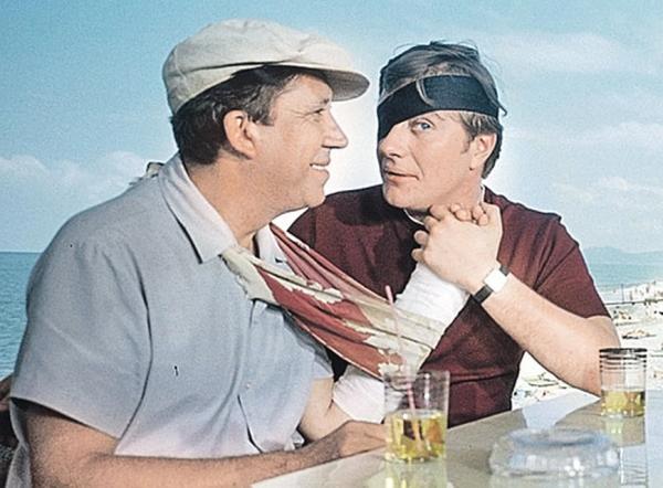 """Юрий Никулин и Андрей Миронов. """"Бриллиантовая рука"""" 1968 г."""