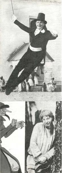 Бальзаминов («Женитьба Бальзаминова»), Конюший (из нового мультипликационного фильма Я. Иванова-Вамо *Конск-Горбунок»), Агафон (из нового фильма «Финист — Ясный сокол»