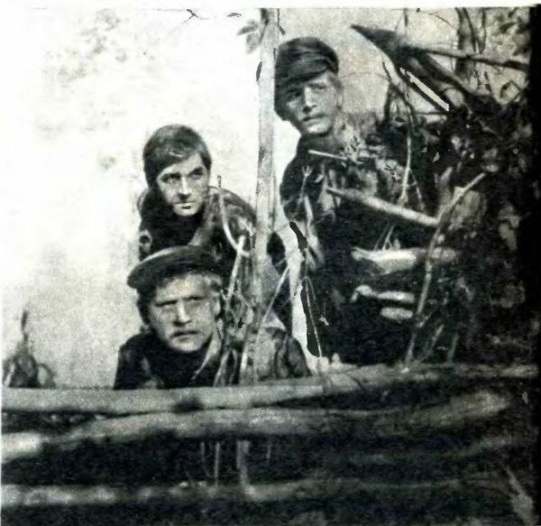 Клыч (Б. Невзоров), Стас (В. Вихров), Климов (В. Жиганов)