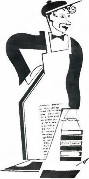 И. Зенин в роли киномеханика в обозрении «Мишка, верти!», г. Театр Сатиры. 1921 г.