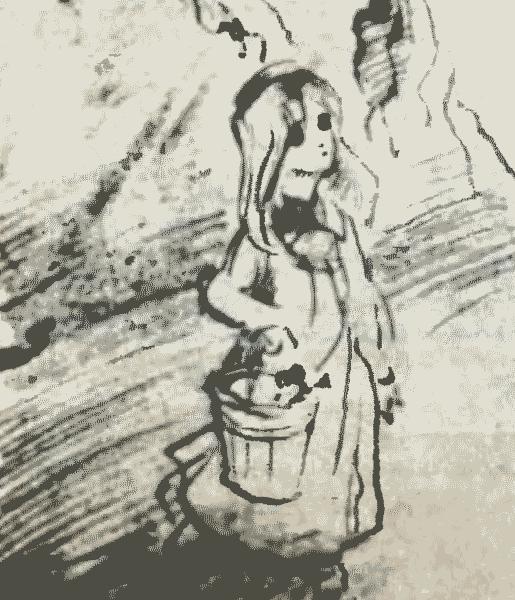 Эскиз художника Л. Мильчина к советско-румынскому фильму «Мария, Мирабелла»