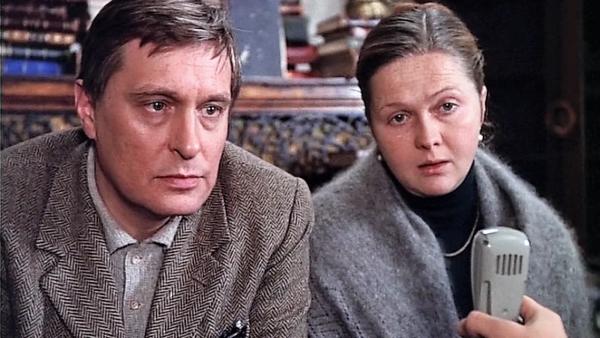"""Олег Басилашвили и Наталья Гундарева. """"Осенний марафон"""" 1979 г."""