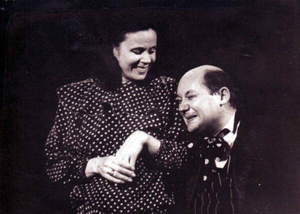 """Спектакль """"Хармс! Чармс! Шардам! или Школа клоунов"""". Любовь Полищук и Геннадий Храпунков."""
