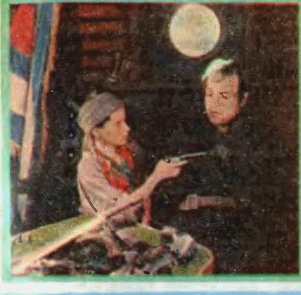 Арабелла (Инга-Кай Пускар) и капитан Пуля (Лембит Петерсон)