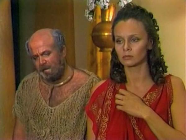 """Александр Калягин и Любовь Полищук. """"Эзоп"""" 1981 г."""