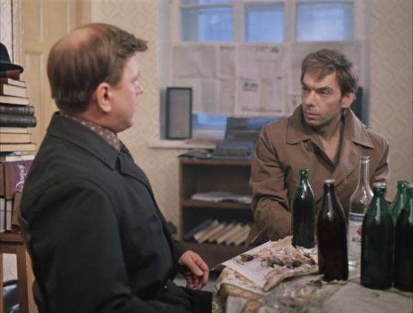 """Борис Сморчков и Алексей Баталов """"Москва слезам не верит"""" 1979 г."""