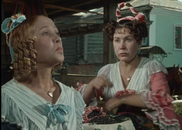 """Надежда Румянцева и Инна Макарова. """"Женитьба Бальзаминова"""" 1964 г."""