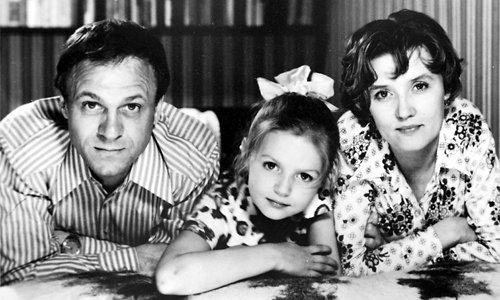 Владимир Меньшов и Вера Алентова с дочерью Юлей