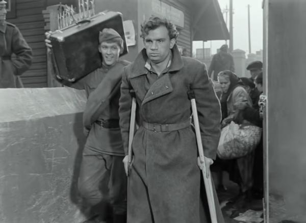 """Владимир Ивашов и Евгений Урбанский. """"Баллада о солдате"""" 1959 г."""