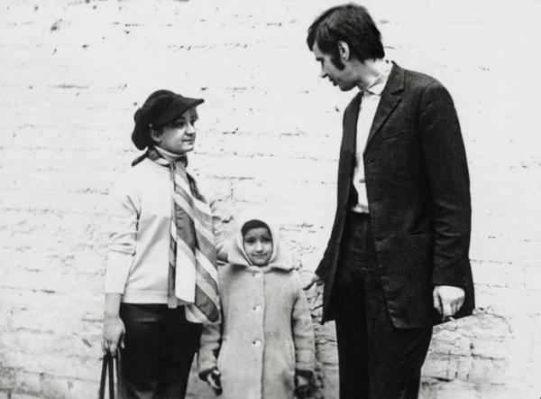 Георгий Бурков с женой и дочерью