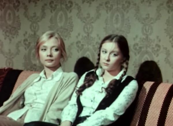 """Светлана Смехнова и Лариса Удовиченко. """"Дочки-матери"""" 1974 г."""