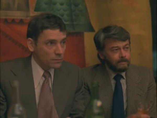 """Валерий Приемыхов и Александр Демьяненко. """"Жена ушла"""" 1979 г."""