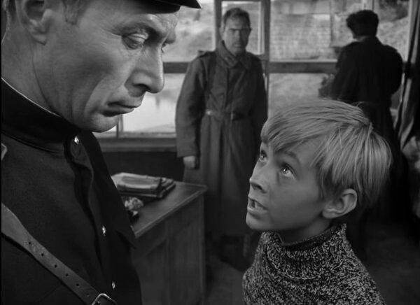 """Николай Гринько и Николай Бурляев. """"Иваново детство"""" 1962 г."""